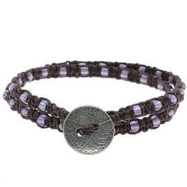 Beaded Macrame Wrap Bracelet (Brn & Purple) - Exclusive Beadaholique Jewelry Kit