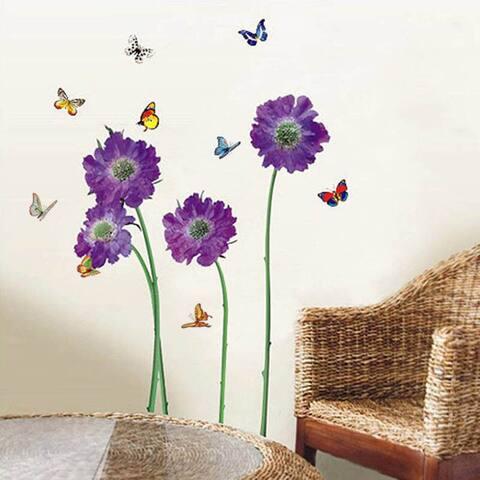 Walplus Purple Flower Wall Sticker Home Decoration Nursery Decor Decal