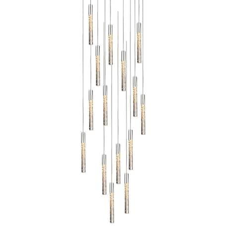 "Modern Forms PD-35615 Magic 15 Light 23"" Wide LED Multi Light Pendant - Polished Nickel"