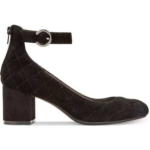 Alfani Womens Ashiaa Closed Toe Ankle Strap Classic Pumps