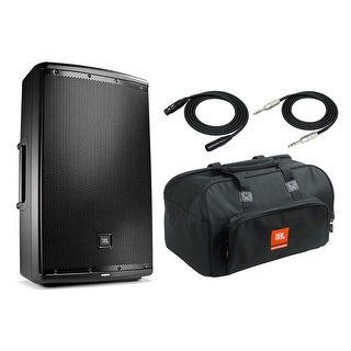 """JBL EON615 Speaker Sound System with JBL Carrying Bag, 2 XLR and 1/4"""" TRS Cables"""