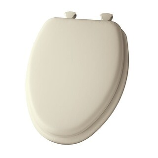 Bemis 113EC Elongated Cushioned Vinyl Soft Toilet Seat with Easy-Clean & Change Hinge