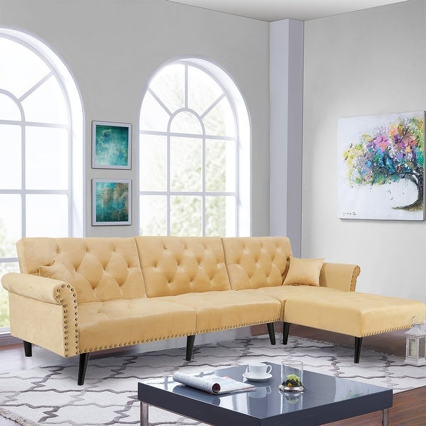 Reversible Sectional Sofa Sleeper. Opens flyout.