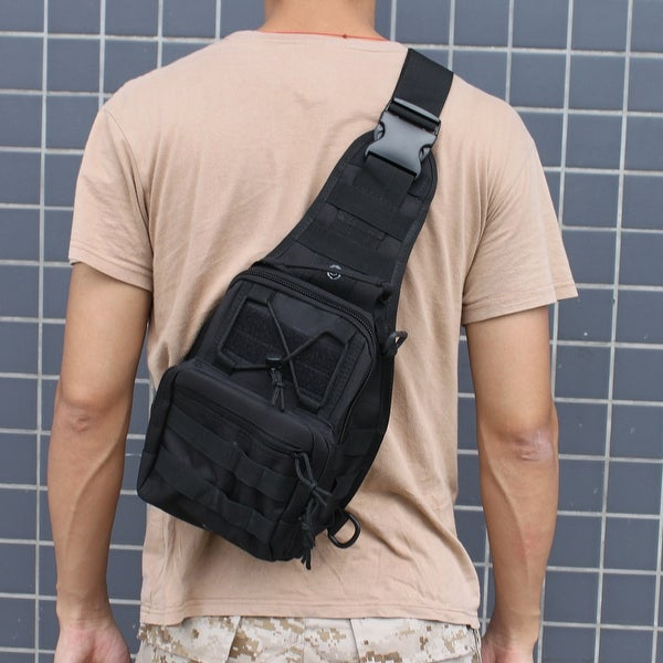 AGPtek Outdoor Tactical Shoulder Backpack Military & Sport Bag Pack Daypack for Camping/Hiking/Trekking Black