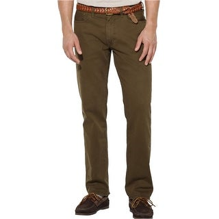 Polo Ralph Lauren Straight Fit 5-Pocket Chinos Pants Olive 33 x 30