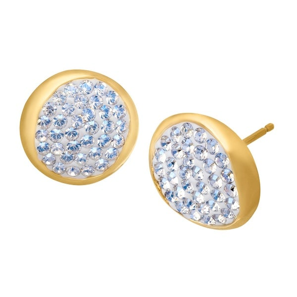 Crystaluxe Stud Earrings with Swarovski Crystals in 14K Gold-Plated Sterling Silver