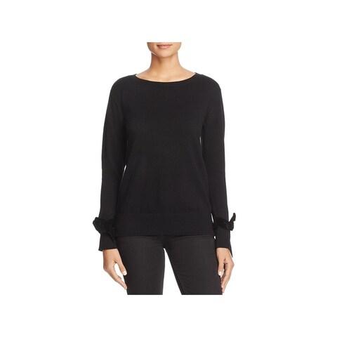 MICHAEL Michael Kors Womens Pullover Sweater Knit Velvet Trim