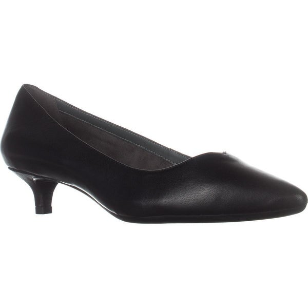 Aerosoles Dress Code Comfort Heels, Black Leather