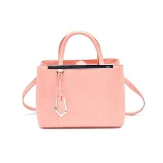 Fendi Petite 2Jours Python Top Handle Shopper Bag Pink