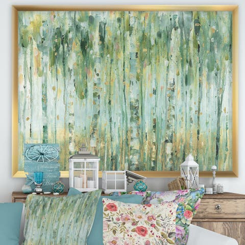 Designart 'The birch Forest II' Traditional Framed Art Print
