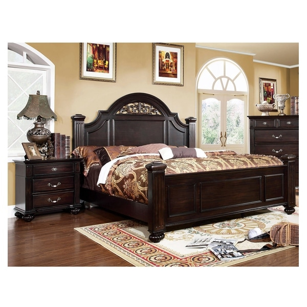 Furniture of America Vame Traditional Walnut 2-piece Bedroom Set. Opens flyout.
