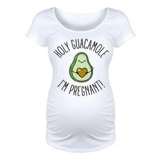 Holy Guacamole Im Pregnant - Maternity Scoop Neck Tee