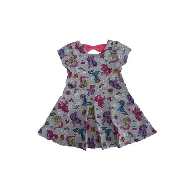 505097e4 Shop Hasbro Little Girls Grey Short Sleeve My Little Pony Dress - Free  Shipping On Orders Over $45 - Overstock - 27212011