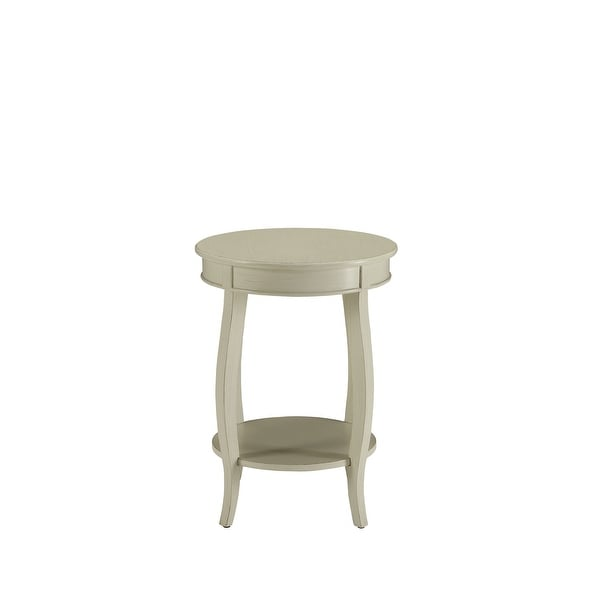 Side Table In Antique White - Mdf, Solid Wood Leg Antique White