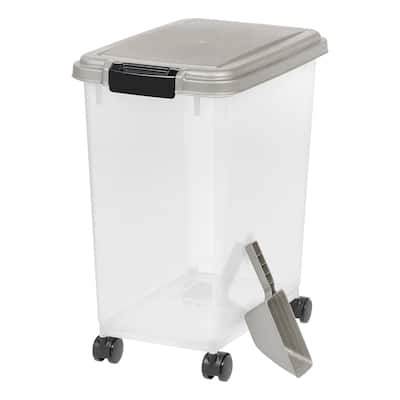 25 lb. Airtight Pet Food Container in Chrome