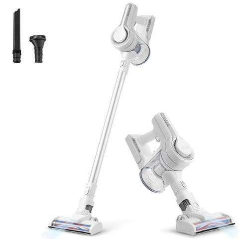 6 in 1 Cordless Handheld Stick Vacuum Cleaner with Detachable Battery - White - Onesize