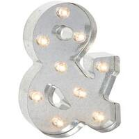 """& (Ampersand) - Silver Metal Marquee Symbol 9.875"""""""