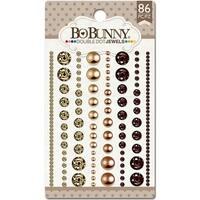 Bo Bunny Double Dot Jewels (86 Pack), Mocha