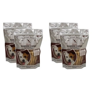 Tartar Shield Soft Rawhide Chews for Small Dogs 30 Count 4 Pack