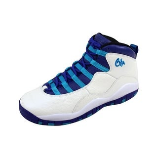 Nike Grade-School Air Jordan X 10 Retro White/Concord-Blue Lagoon-Black 310806-107