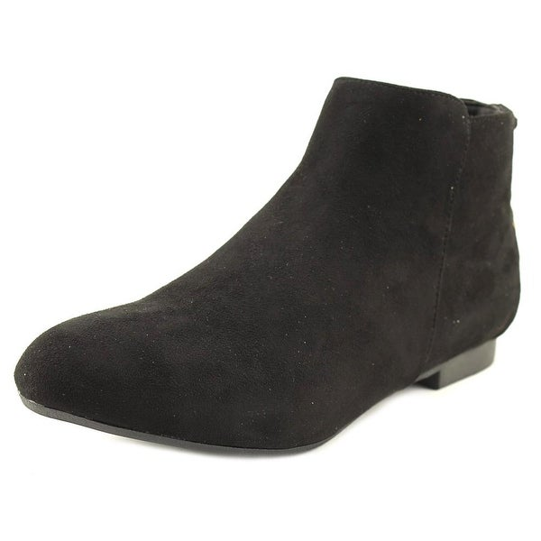 GC Shoes Rocca Women Round Toe Suede Black Ankle Boot