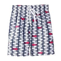 Azul Baby Boys Navy One Fish Two Fish Drawstring Tie Swim Shorts