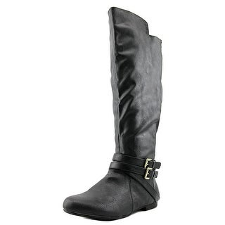 Fergalicious RODEO WIDE CALF Women Round Toe Synthetic Black Knee High Boot
