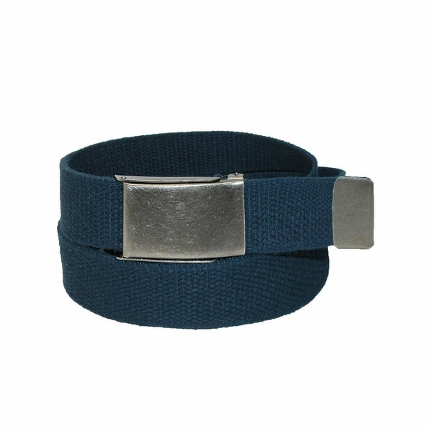 CTM® Men's Fabric Belt with Nickel Flip Top Buckle