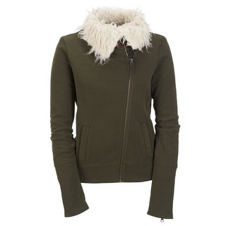 Link to Aeropostale Womens Knit Sherpa Aviator Bomber Jacket, green, Medium Similar Items in Women's Outerwear