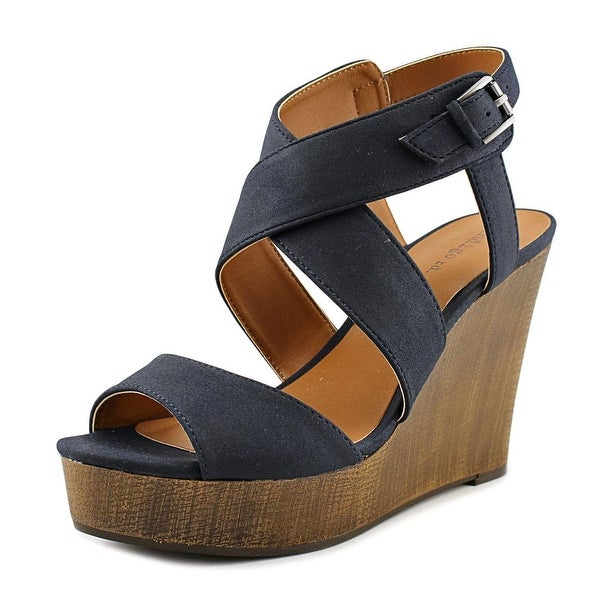 Indigo Rd. Kamryn Women Open Toe Synthetic Blue Wedge Sandal
