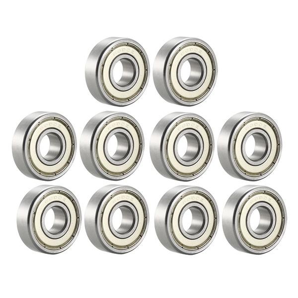 6000ZZ Deep Groove Ball Bearing 10x26x8mm Double Shielded Chrome Bearings 10pcs - 10 Pack