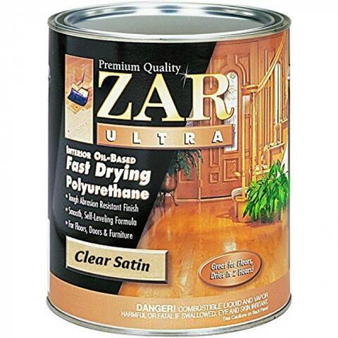 ZAR 32912 Ultra Interior Oil Based Fast Drying Polyurethane, Satin, 1 Qt