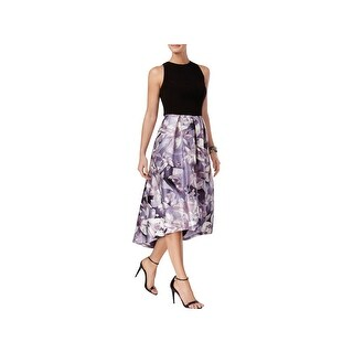 SLNY Womens Cocktail Dress Floral Print Hi-Low