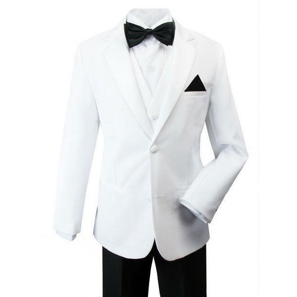 Rafael Boys Black White Pants Jacket James Bond Tuxedo Suit