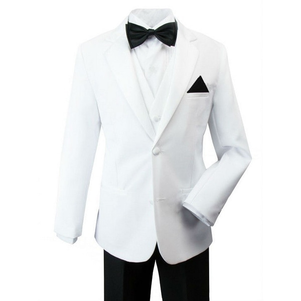 Rafael Little Boys Black White Pants Jacket James Bond Tuxedo Suit
