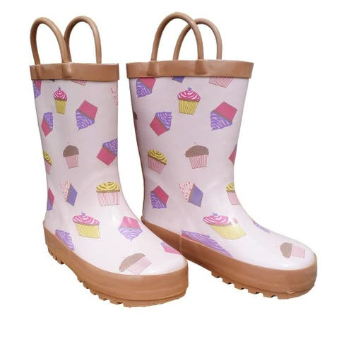 Pink Cupcakes Galore Girls Rain Boots 11-3