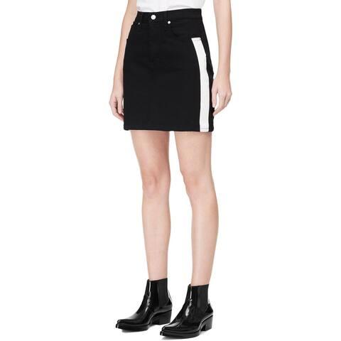 Calvin Klein Jeans Womens Mini Skirt Denim Embellishments