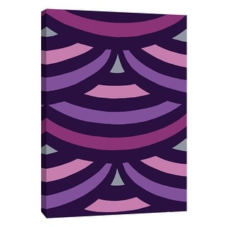 "PTM Images 9-108758  PTM Canvas Collection 10"" x 8"" - ""Monochrome Patterns 2 in Purple"" Giclee Abstract Art Print on Canvas"