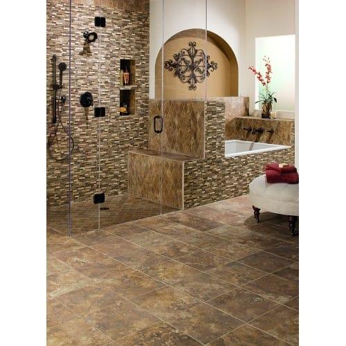 Shop Mohawk Industries Mocha Latte Ceramic Floor Tile - 13 inch floor tiles