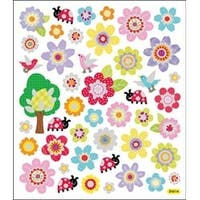 Spring Flowers - Multicolored Stickers
