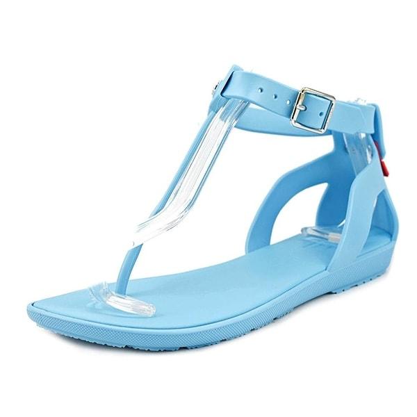 Hunter Womens org t Open Toe Casual Slide Sandals, Blue sky, Size 7.0
