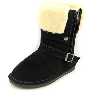 Bearpaw Madison Women Round Toe Suede Black Winter Boot