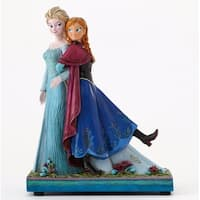 "Disney Traditions Frozen Showcase Collection ""Sisters Forever"" Elsa & Anna Musical Figurine #4049101 - BLue"