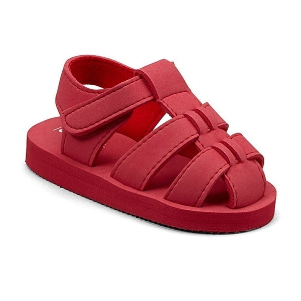 cc78069e925e Shop Angel Baby Girls Red EVA Foam Fisherman Sandals 5-10 Toddler - Free  Shipping On Orders Over  45 - Overstock - 23079478