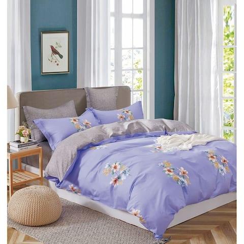 Kaufmann 100% Cotton Lily Comforter Set Purple