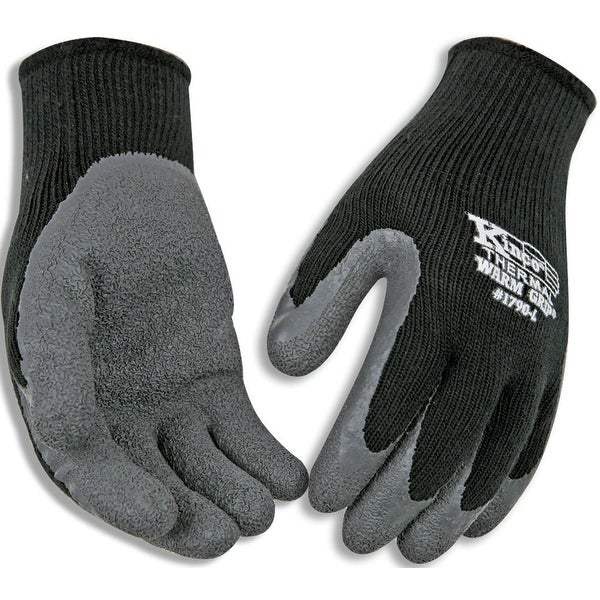 Kinco 1790-L Men's Cold Weather Latex Coated Knit Glove, Large, Black. Opens flyout.