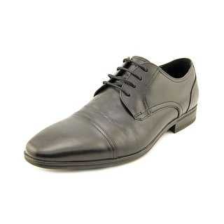 Kenneth Cole Reaction In A Min-Ute Men  Cap Toe Leather Black Oxford