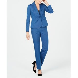 Link to Le Suit Womens Notch Collar One Button Blazer Jacket, Blue, 18 Similar Items in Suits & Suit Separates