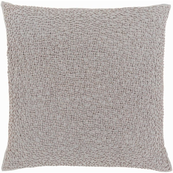 "20"" Storm and Cloud Gray Woven Decorative Throw Pillow"