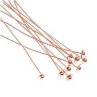Beadalon Copper Plated Star Ball Head Pins - 24 Gauge - 2 Inches (10)